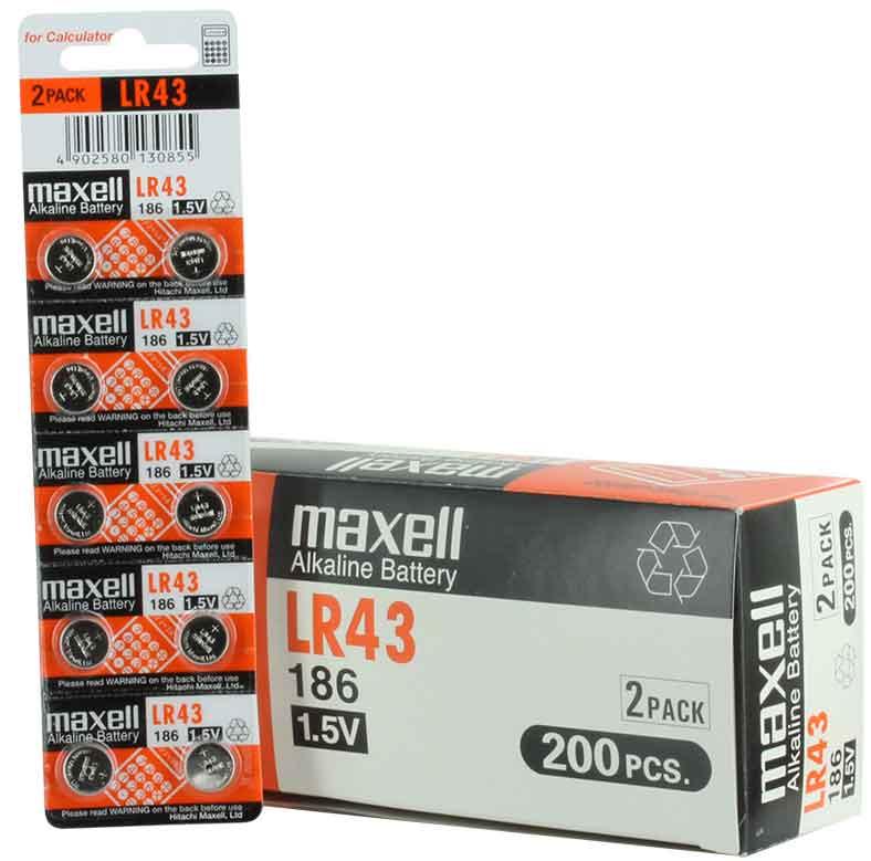 Maxell LR43 i 10 pack
