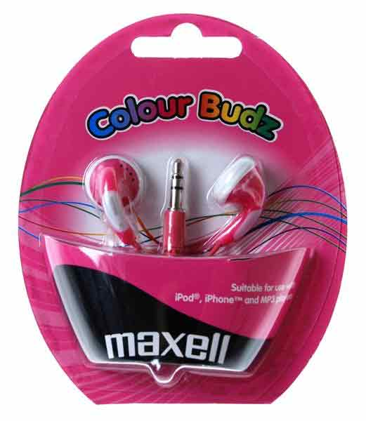Maxell Color Budz In-ear Rosa