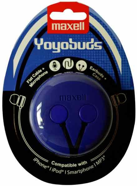 Maxell Headset Yoyobuds Blå