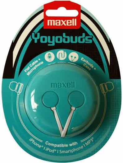 Maxell Headset Yoyobuds Grön