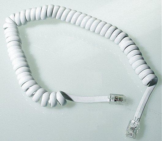 Telefonkabel Spiral 2.0 M Vit