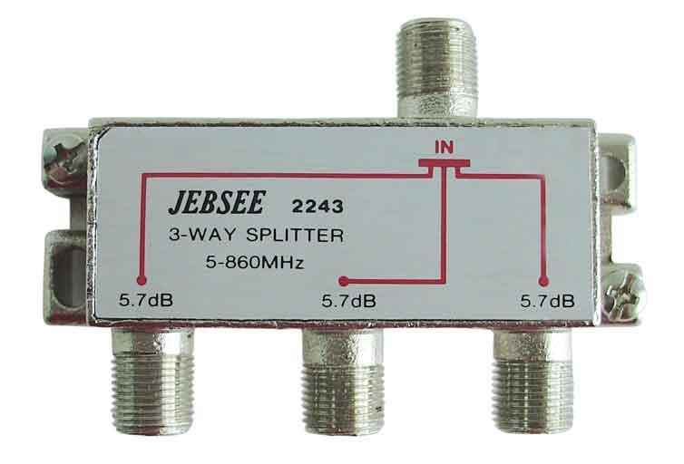 F-splitt M57 3-vägs 5-1000mhz