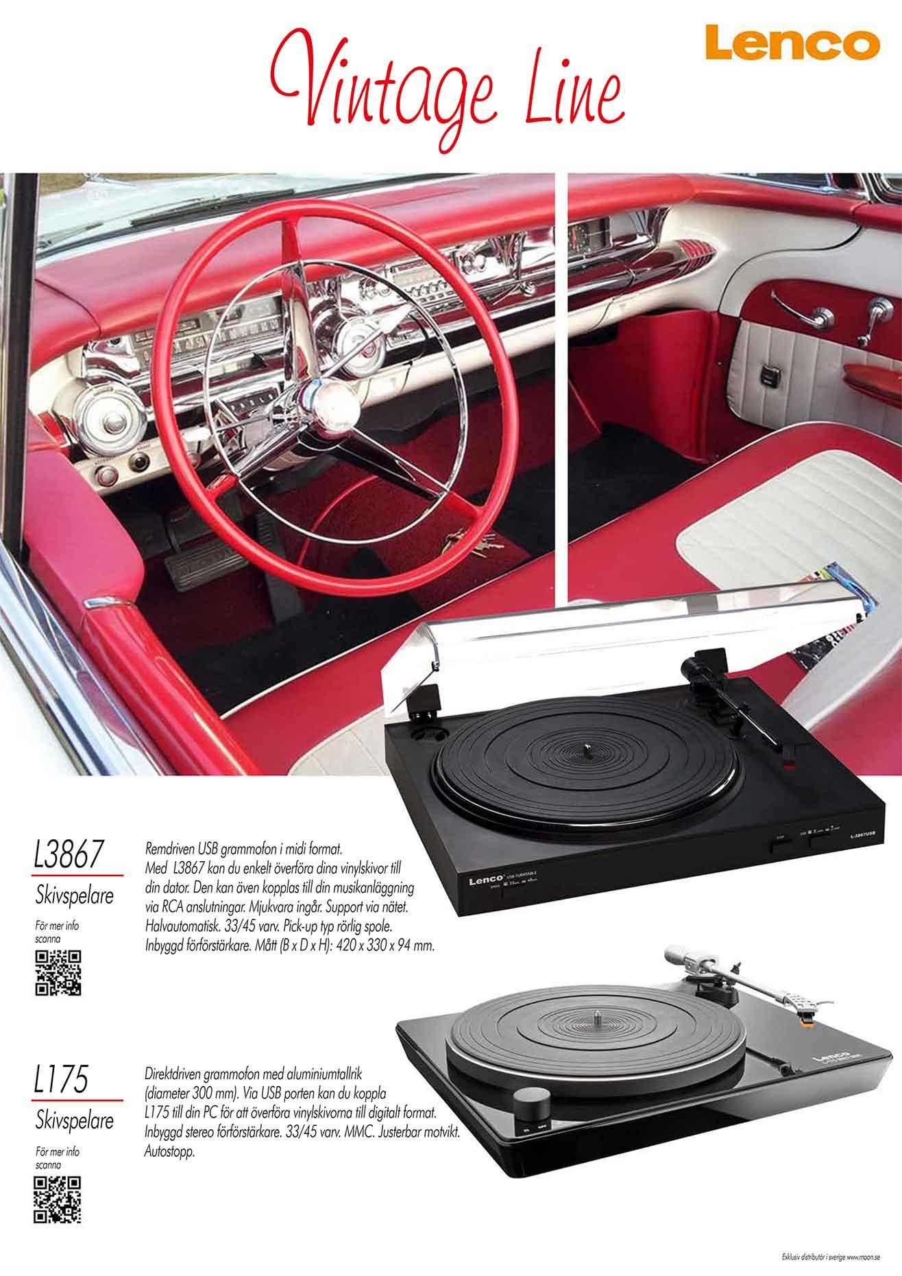 Affisch Vintage line Vinyl