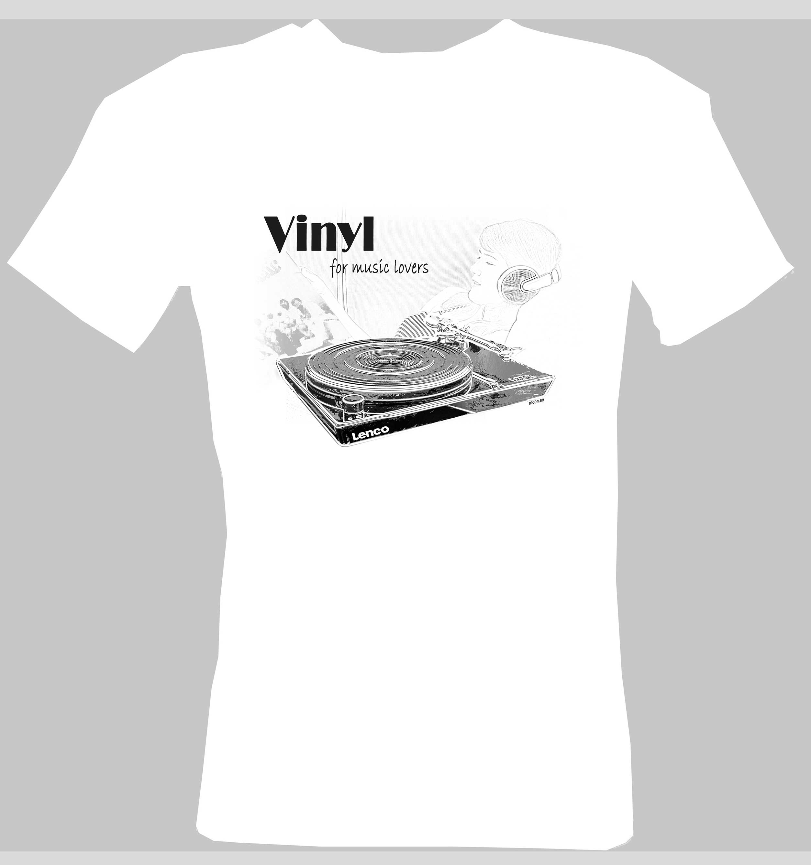 T-shirt vit Lenco M