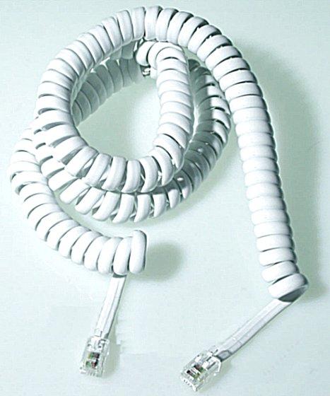 Telefonkabel Spiral 4.5 M Vit