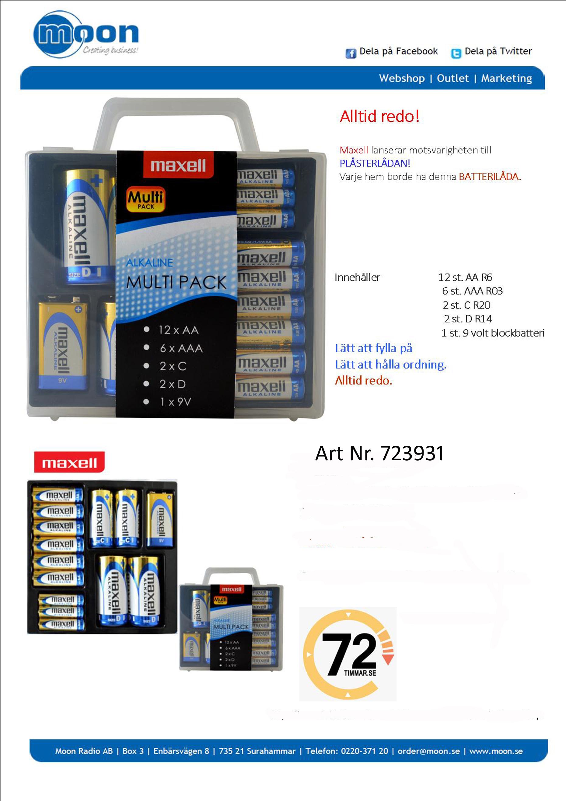 Maxelll Batterier multipack