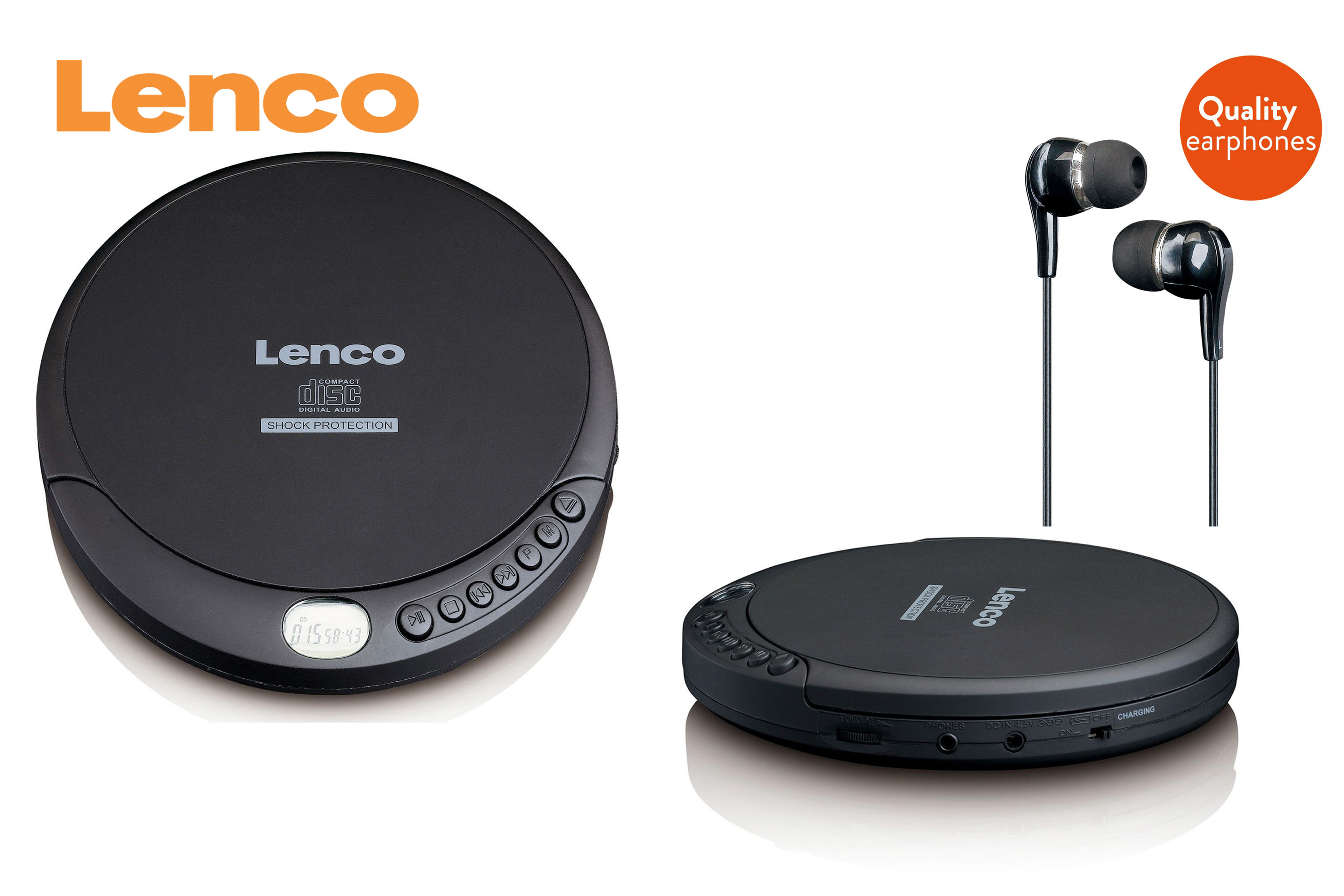 Lenco CD spelare MP3 resume sv