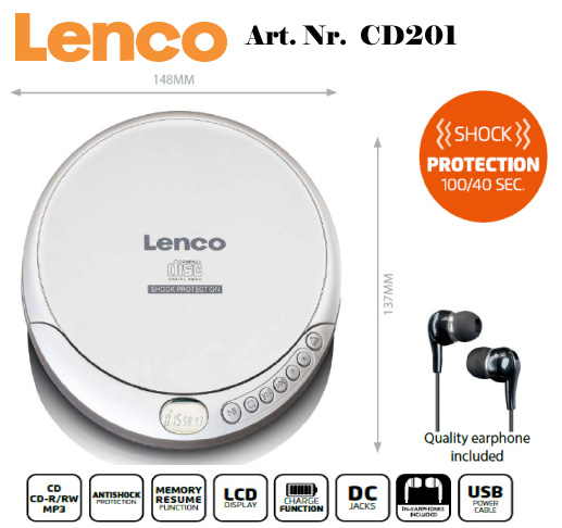 LENCO CD spelare MP3 Resume