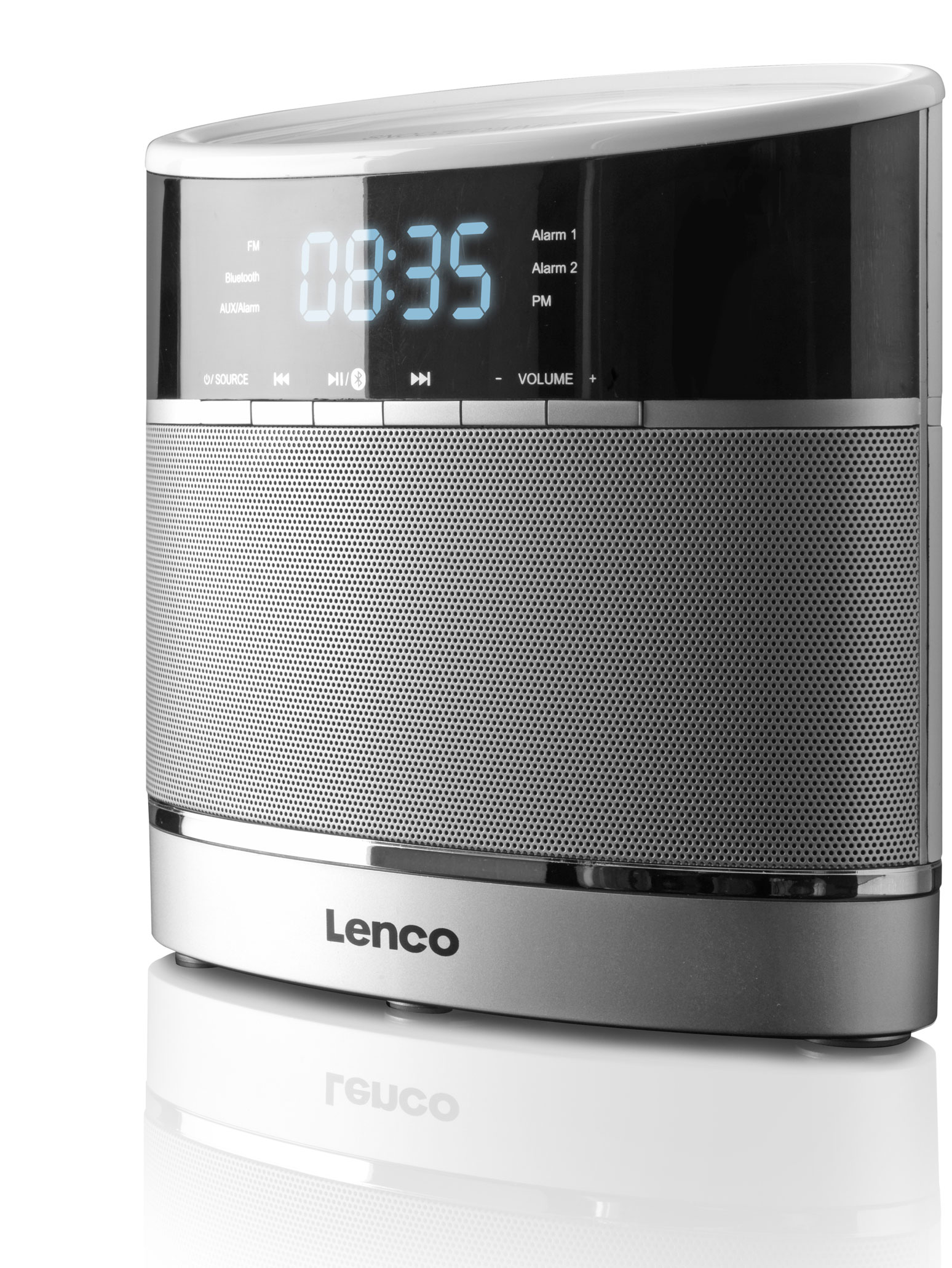 Lenco Klockradio Bluetooth AUX
