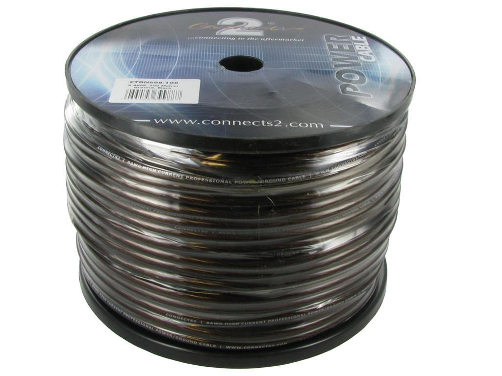 8mm2 kabel svart 100m