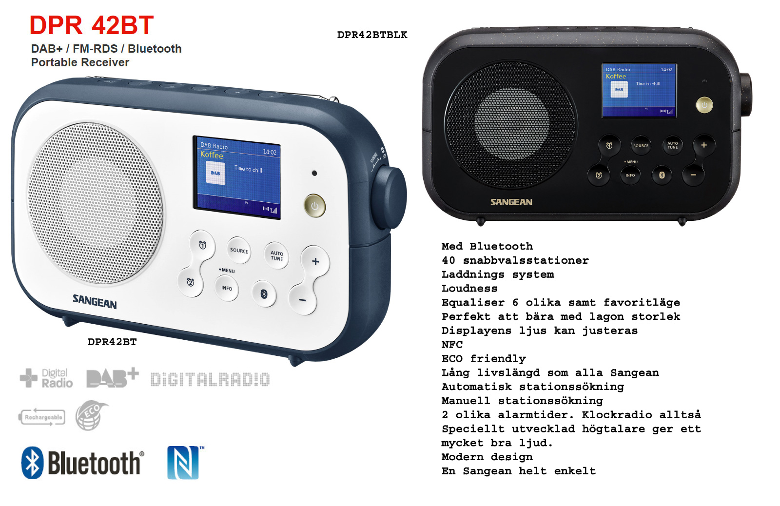 Sangean Bluetooth DAB radio FM