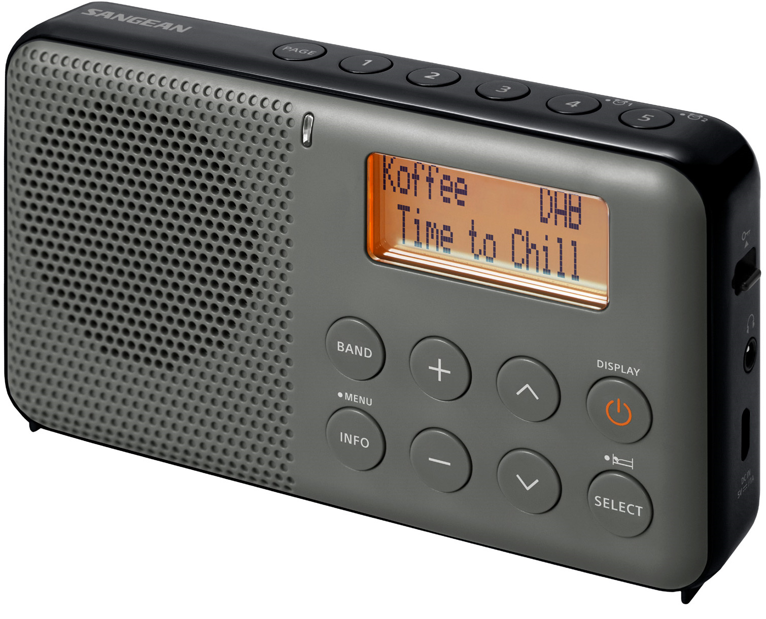 Sangean DAB FM rese Svart
