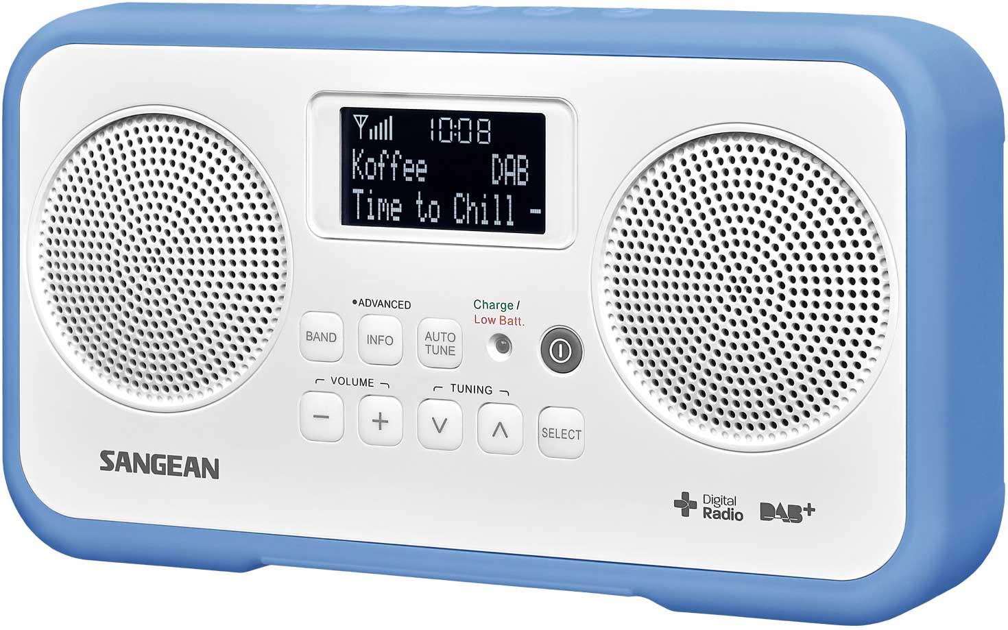 Sangean Dab FM stereo Blå