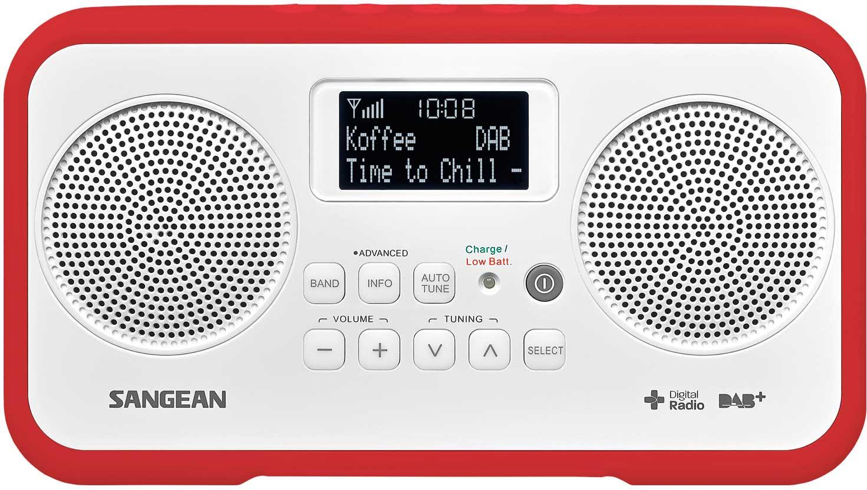 Sangean Dab FM stereo Röd