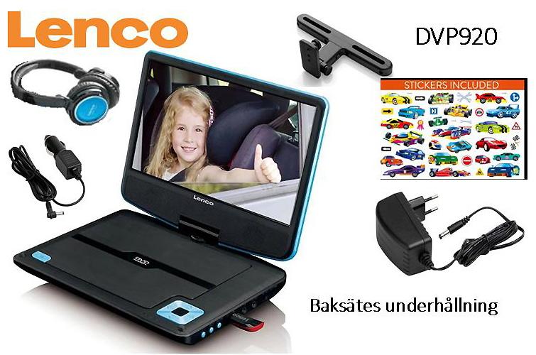 Lenco DVD protable hörlurar in