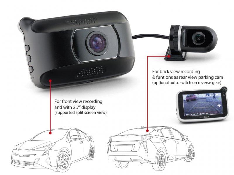 Caliber dashcam + rear camera