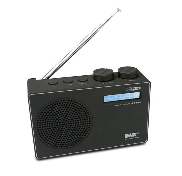 Caliber bärbar DAB radio