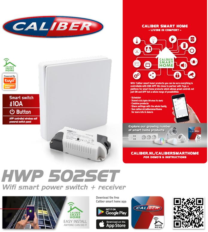 Caliber Smart strömbrytare WiF