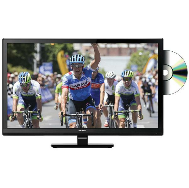 Sharp 24 LCD med inbyggd DVD