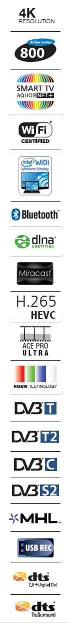 Sharp 55 Led  DVB-T2/ C /S2