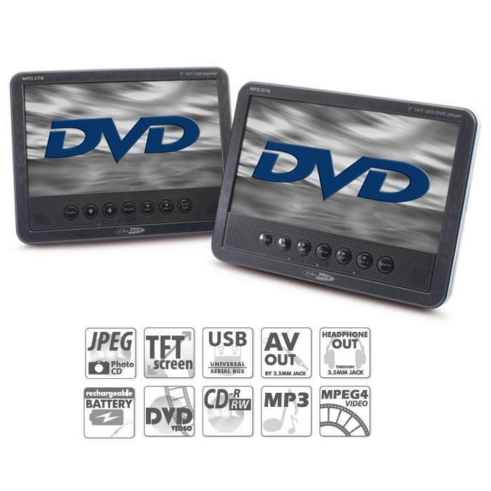 Caliber Portabel DVD 2 skärmar