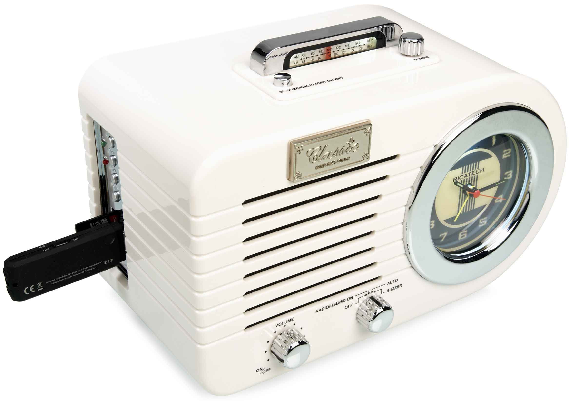 Ricatech RETRO Radio Svart