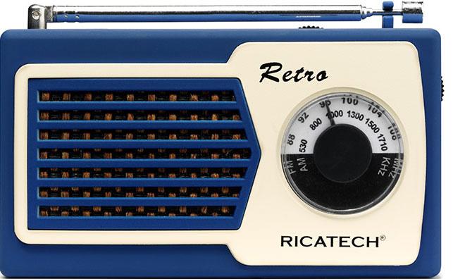 RICATECH Retro transistor Blå