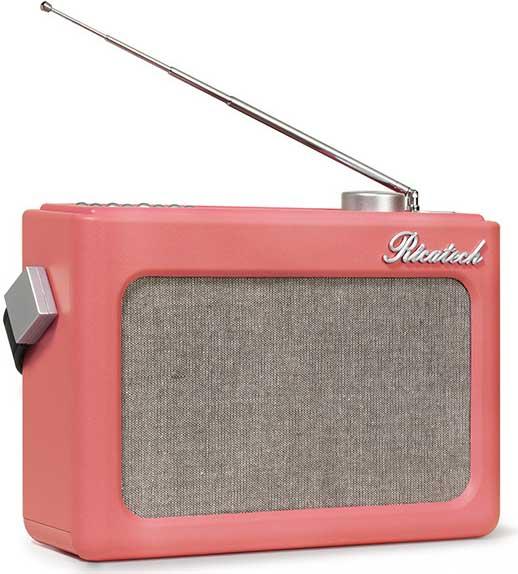 Ricatech Retro radio läderlook