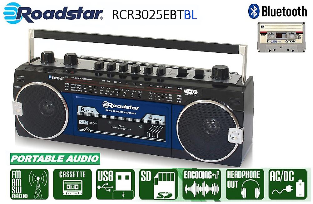 Roadstar Kassettradio Bluetoot