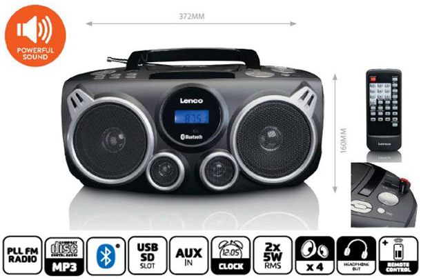 Lenco Boombox Bluetooth 4St.