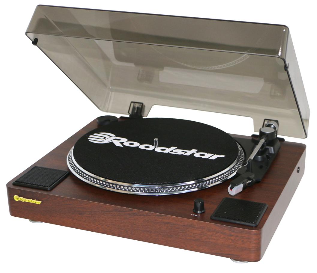 Roadstar Vinylspelare i trä