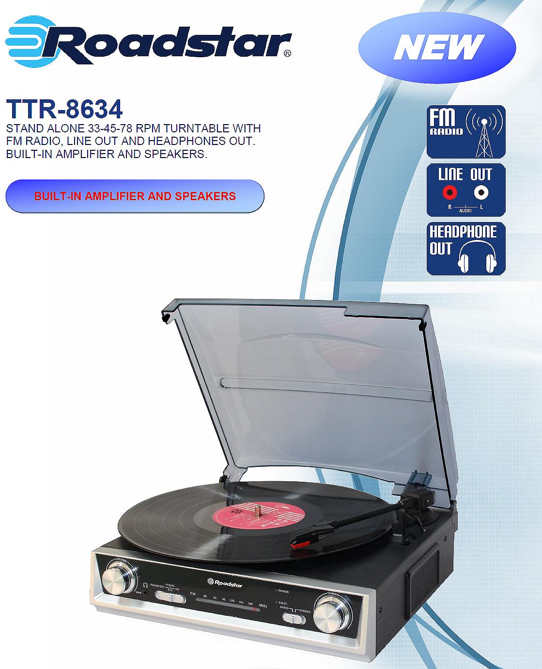 Roadstar musikcenter Radio Vin