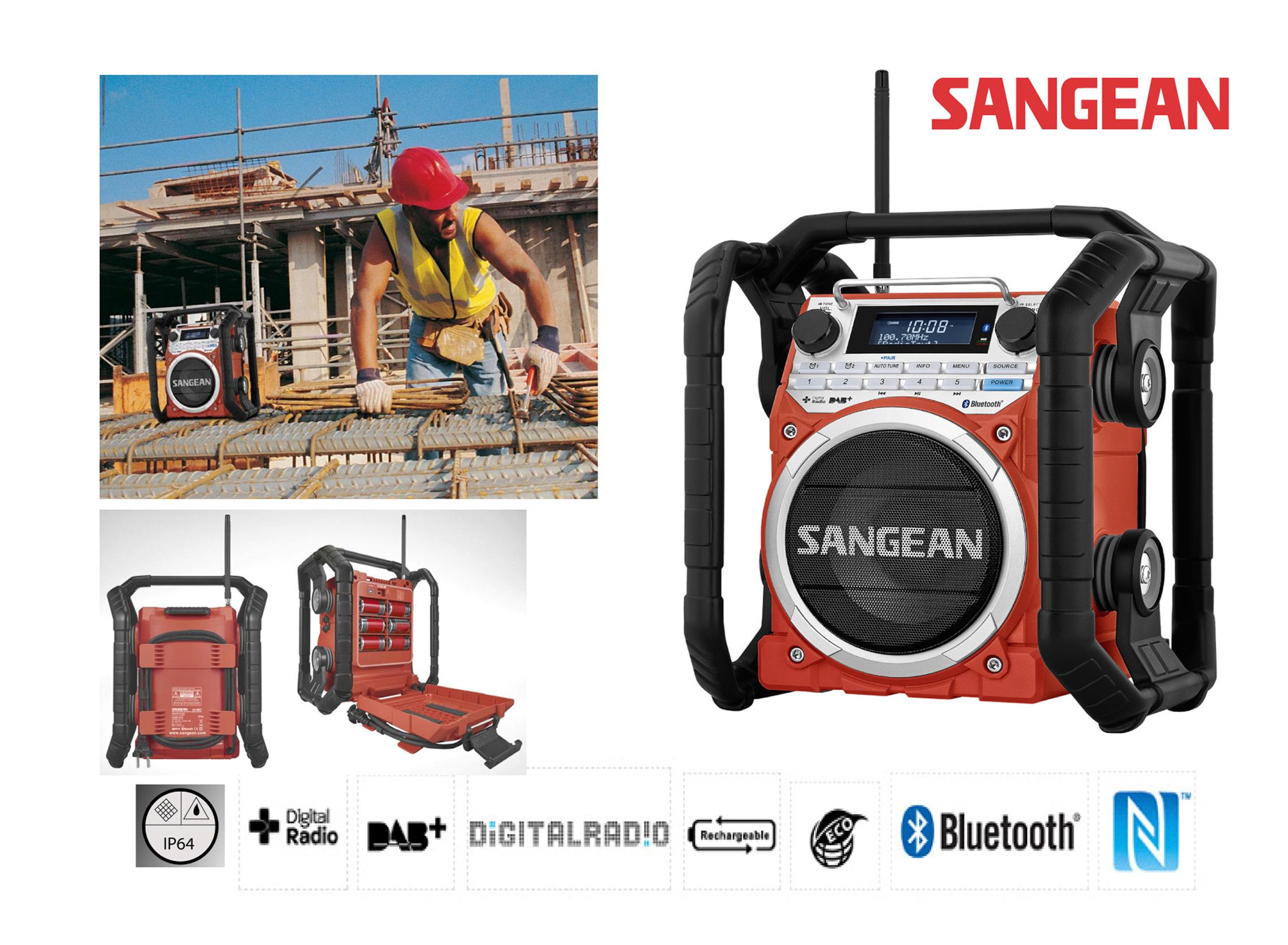 Sangean DAB Utility Radio blue