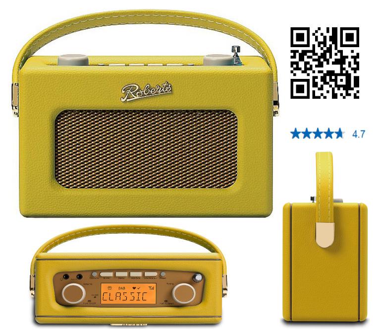 ROBERTS UNO Yellow  FM DAB