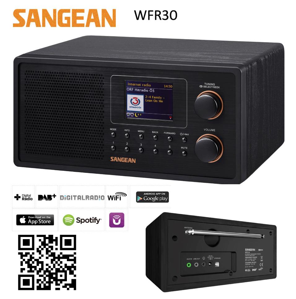 Sangean WiFi radio FM/DAB