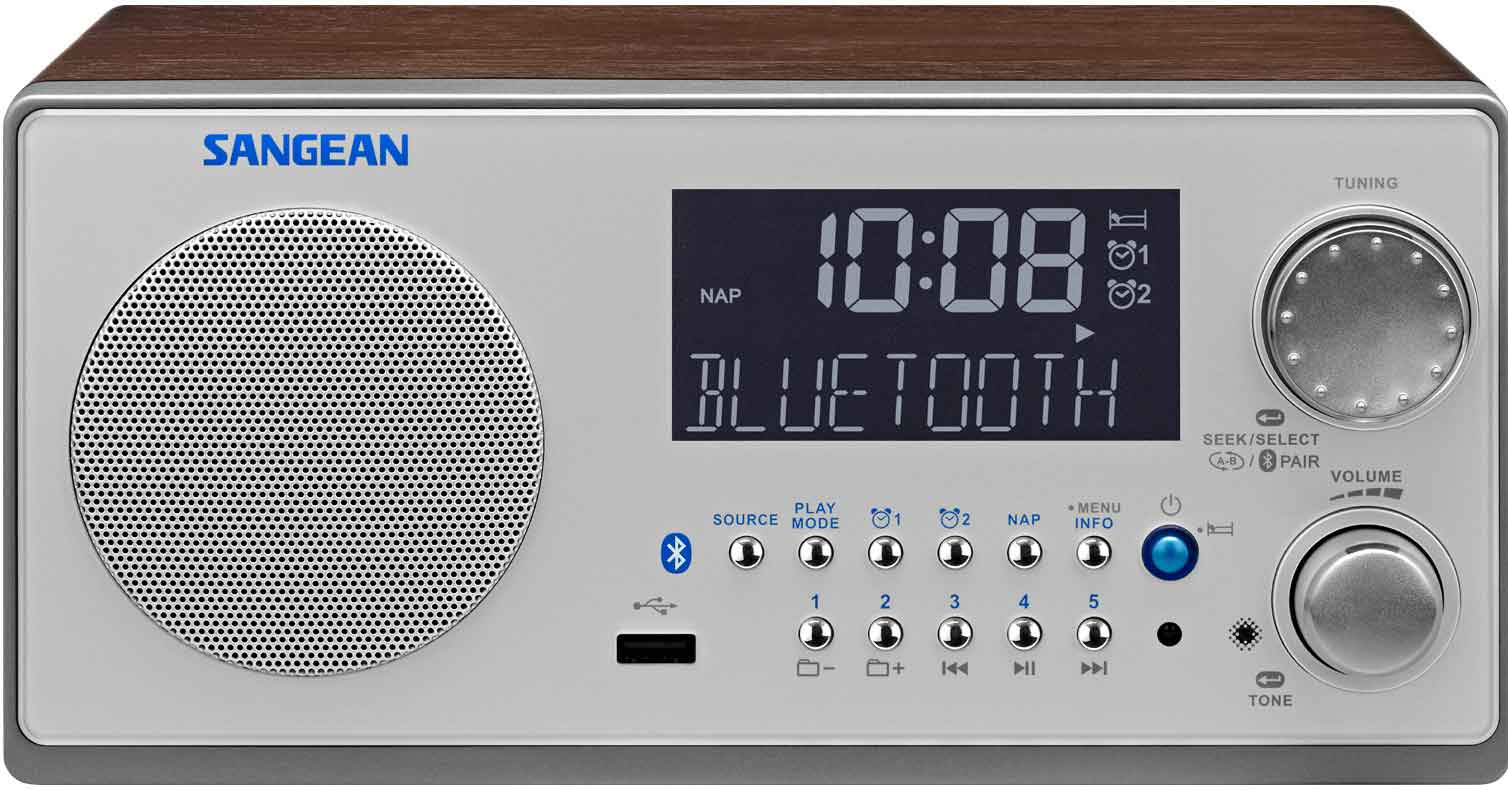 Sangean Bluetooth Wood FM RDS