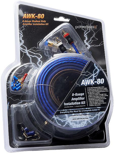 Powerbass 8mm2 kabelkit