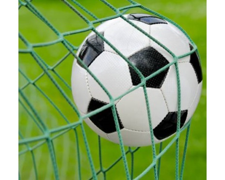 Fotbollsnät 3x2m, 5-manna grön